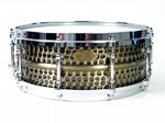 "WORLDMAX BRASS NICKEL HAMMERED SNARE 14"" x 6.5"""